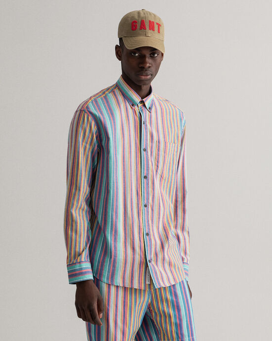 Camisa Oxford Windblown às riscas relaxed fit